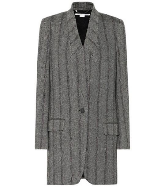 Stella McCartney Herringbone wool-blend coat in grey