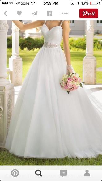 dress wedding pageant gown white rhinestones prom