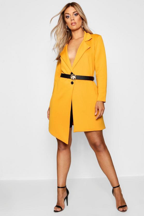 Plus Asymmetric Detail Blazer Dress | Boohoo