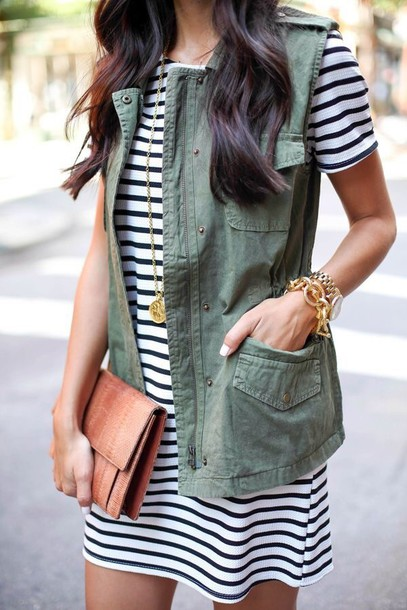 jacket style vest cardigan casual dress bag