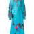 Yuliya Magdych - 'Swallows' dress - women - Linen/Flax - S, Blue, Linen/Flax