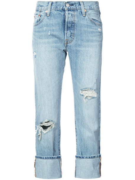 Levi's jeans cropped jeans cropped women cotton blue
