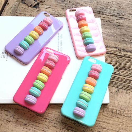 Cute Candy Colors 3D Macaron Hard PC Case Cover for iPhone 6 6S Plus | eBay
