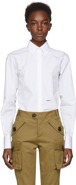 Dsquared2 shirt white top