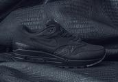 shoes,antivenom,nike,nike air max 90,black leather skirt,black,snake,crocodile,snake skin shoe,sneakers,full black