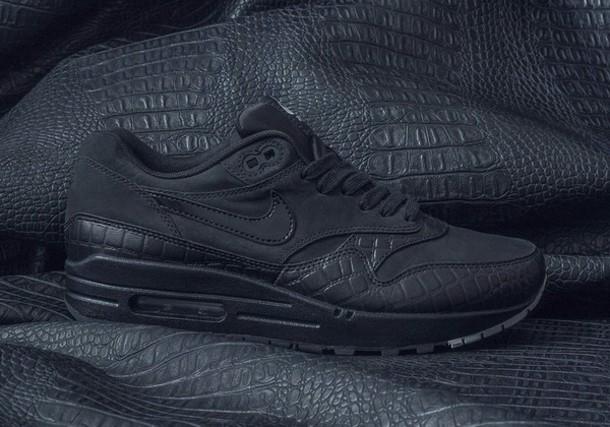 300ef33abe shoes antivenom nike nike air max 90 black leather skirt black snake  crocodile snake skin shoe