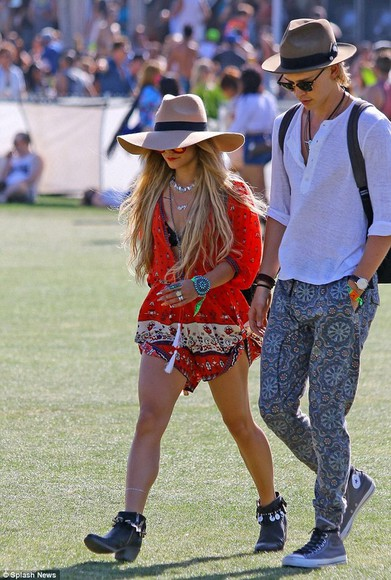 dress ethnic ethnic print vanessa hudgens clothes hippie boho gypsy coachella coachella sunglasses coachellafashion coachella hat