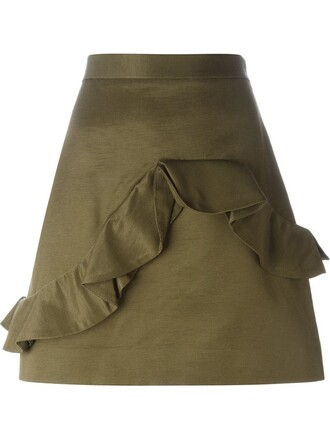 skirt mini skirt mini green