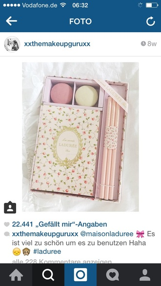 home accessory where do you can get this lladuree box? notebook laduree romantic floral