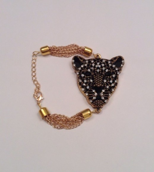 jewels jewelry gold bracelets tumblr instagram fashion twitter instagramfashion gold jewelry gold braclet animal leopard print animal print rhinestones rhinestone diamond diamonds crystal gold jewels instagood