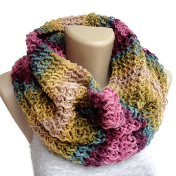 scarf colorful 2014 scarfs trends fashion knitted