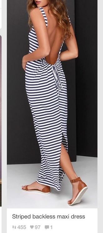 dress striped dress backless dress maxi dress striped maxi dress