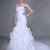 Wrapped Bodice Ruffled Mermaid Wedding Dress