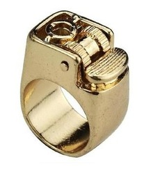 Online shop free shipping fashion vintage accessories designer jewelry metal lighter ring jz0183