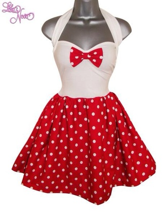 dress pin up pin up dresses red dress pois dress pois funny red and white evening dresses mini dress