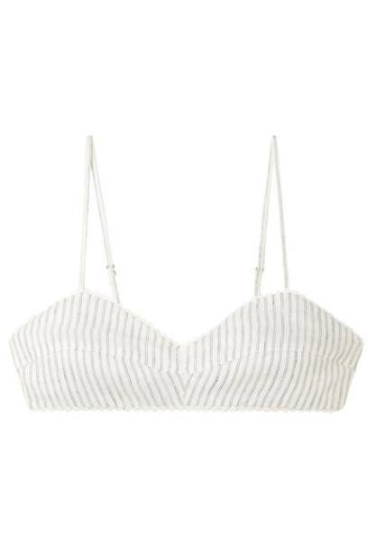 Miguelina bralette white crochet underwear