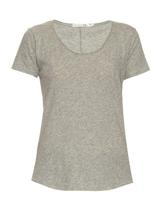 t-shirt shirt cotton t-shirt short cotton light grey top