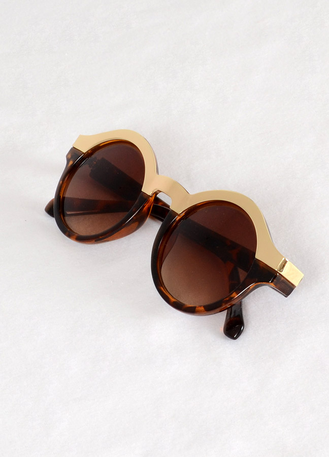Marianne gold top round sunglasses
