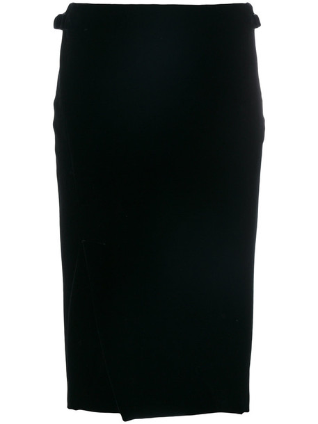 Tom Ford skirt wrap skirt women spandex black silk velvet
