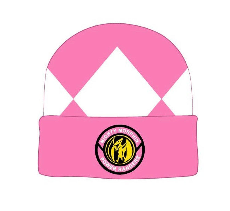 a263f2dbd4a Amazon.com  Mighty Morphin Power Rangers Pink Ranger Beanie ...