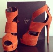 piptoes,girl,hot,shoes,dream,high heels,orange