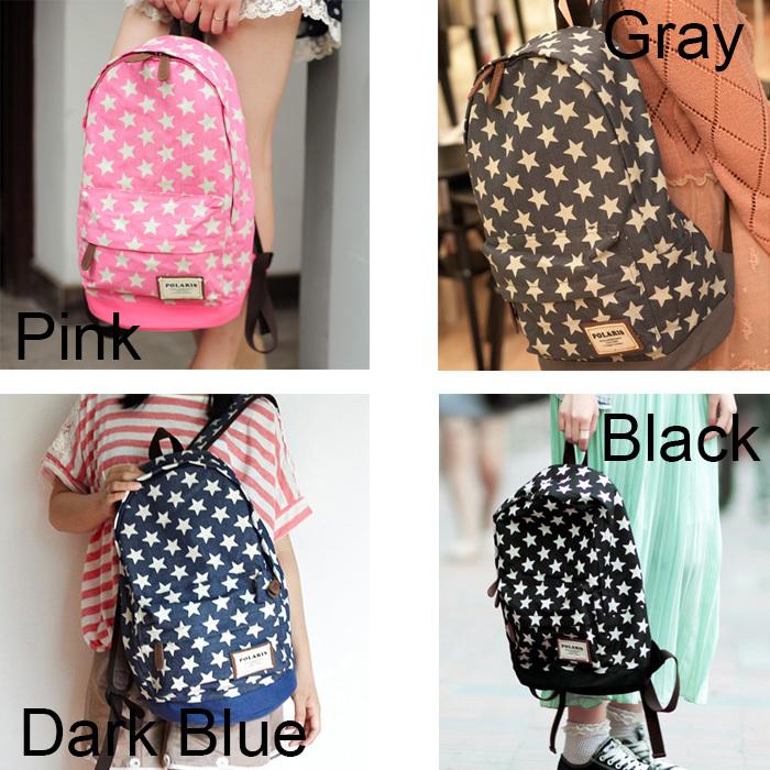 [grhmf22000111]Sweet European Style Star Print Denim Backpack