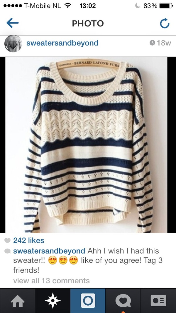 sweater knitted sweater