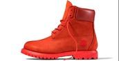 shoes,timberlands,menswear,red dress,pharell,streetwear,happy,arby's hat