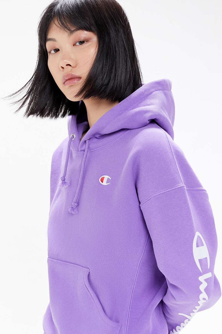 Champion UO Exclusive Script Sleeve Hoodie Sweatshirt