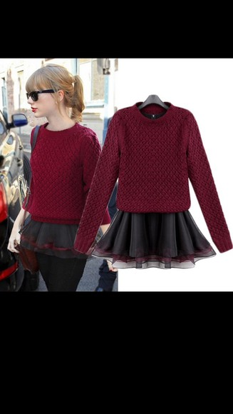 taylor swift sweater red red sweater