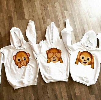 jacket sweater sweatshirt hoodie emoji print fashion style clothes