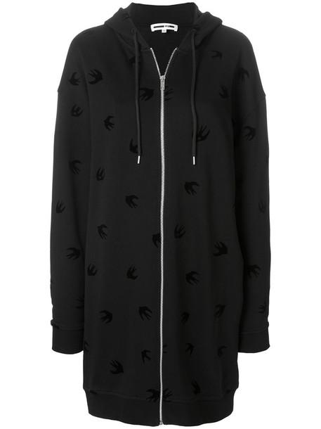 hoodie oversized zip women cotton black sweater