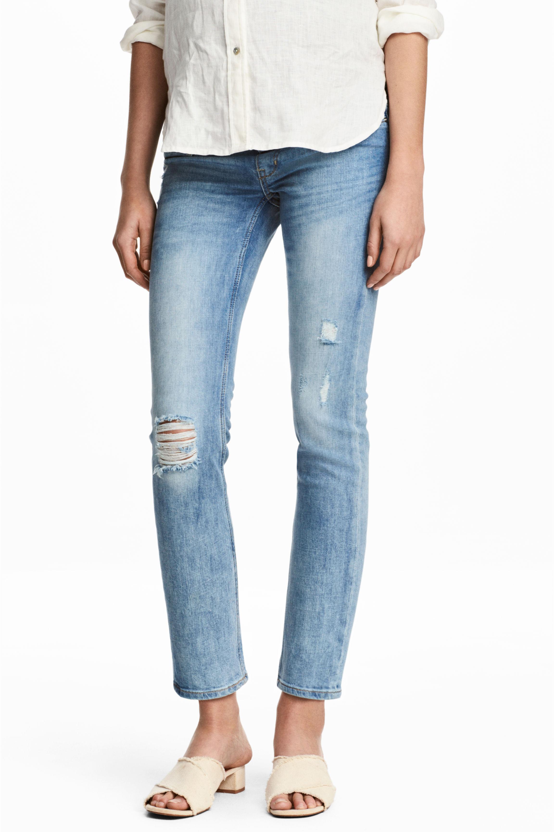2fef6ae89597e MAMA Skinny Ankle Jeans - Azul denim claro - MUJER | H&M ES