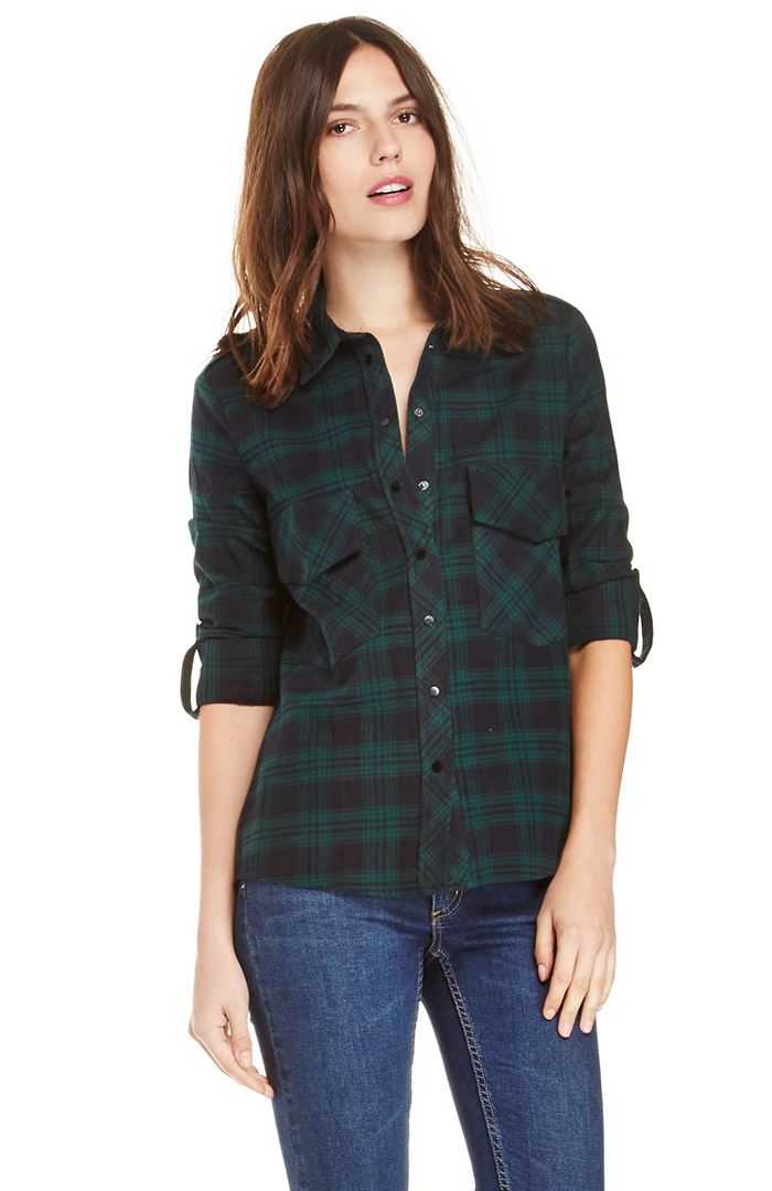 Dailylook: plaid flannel shirt in green m