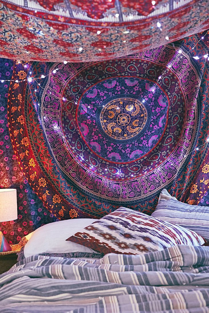 Decorative Wall Hanging Tapestry : Large indian mandala tapestry hippie hippy wall hanging
