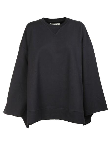 MAISON MARGIELA sweatshirt slit navy sweater