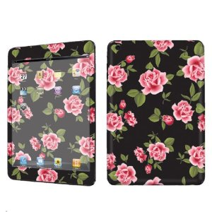 Amazon.com: Apple iPad Mini Decal Vinyl Skin Black Rose Garden By SkinGuardz: Computers & Accessories