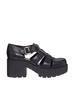 Vagabond | Vagabond Dioon Black Leather Heeled Shoes at ASOS