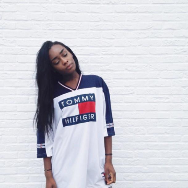 Aaliyah tommy hilfiger shirt