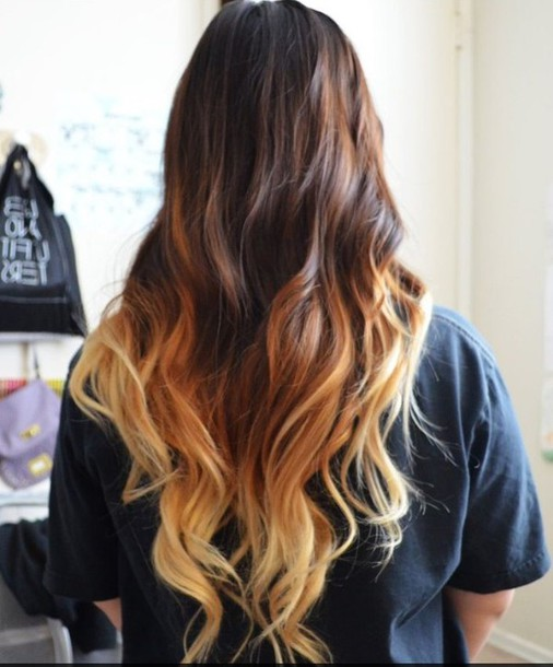 hair accessory hair hair dye ombre t-shirt ombre hair