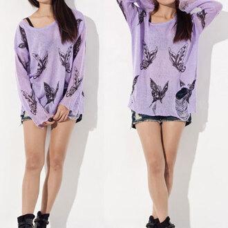 skirt lilac butterfly oversized