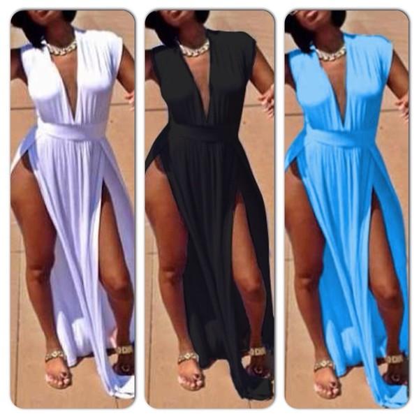 summer dress dress high split dress
