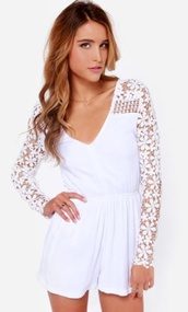 dress,crochet,romper,white lace,style,summer rompers,cute outfits,white romper
