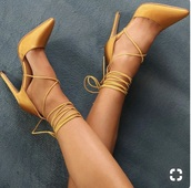 shoes,yellow,yellow shoes,heels,strappy heels,strappy,high heels,love