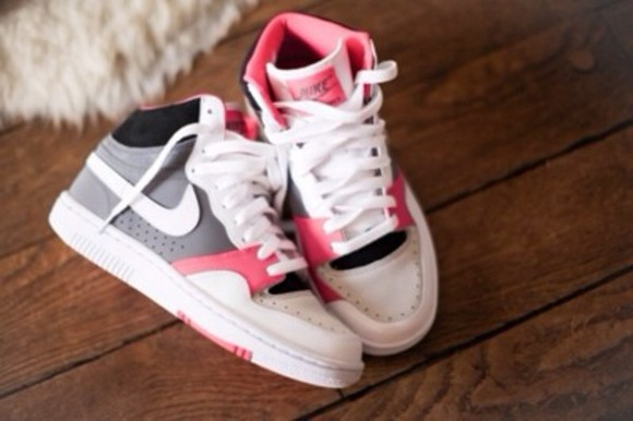 pretty shoes white pink nike girly adorbs