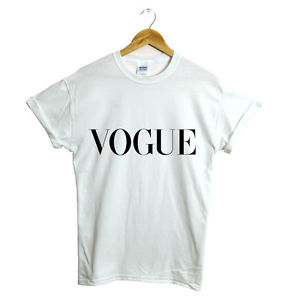 VOGUE T SHIRT RIHANNA CELINE COMME DES FELINE SWAG MEOW HOMIES TOP NEW | eBay