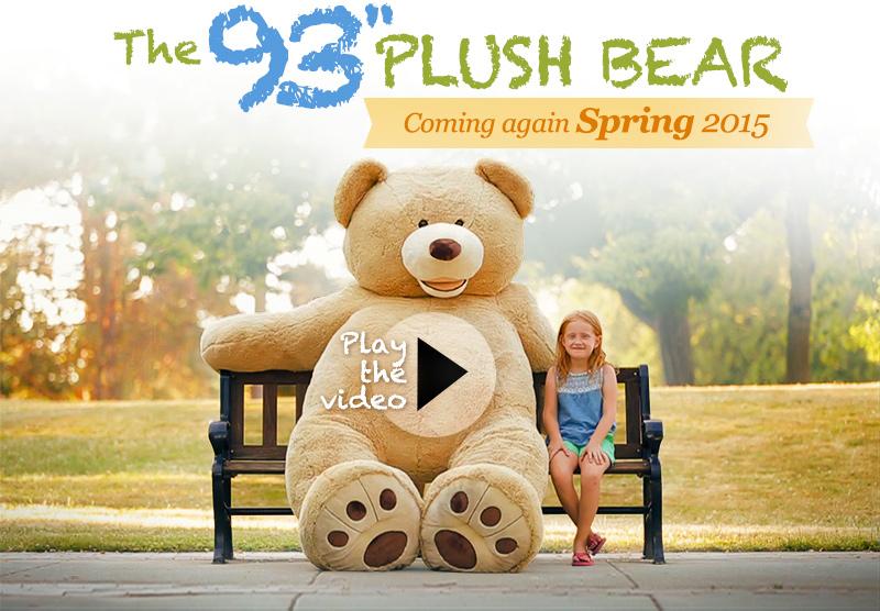 """93"""" plush bear"""