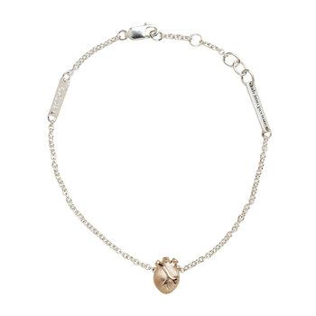 BJORG bracelet - anatomic heart, rose gold - Mila Silver - jewelry online
