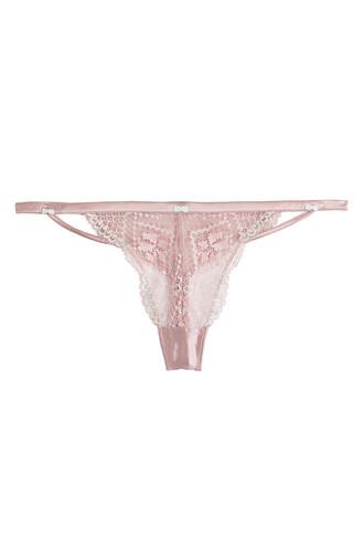 thong purple underwear