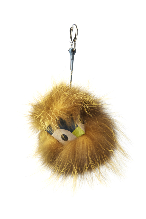 Fendi small fur monster keychain
